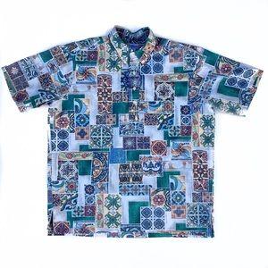 Reyn Spooner Mosaic Tile Hawaiian Shirt